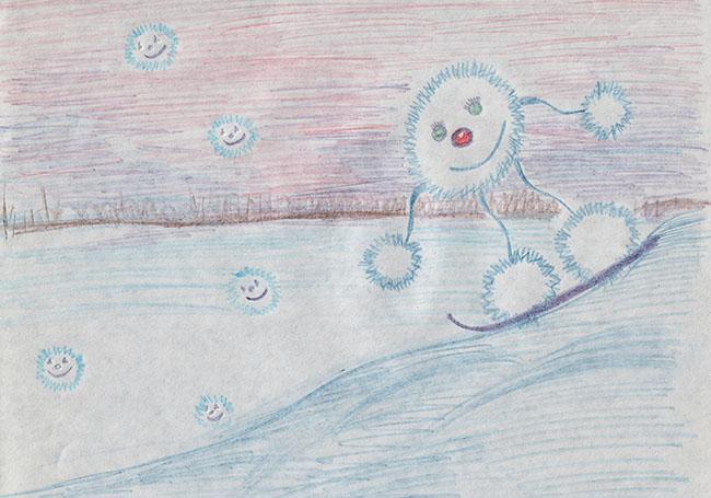 Нарисуй звук – звук падающего снега